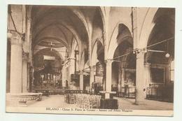 MILANO - CHIESA S.PIETRO IN GESSATE - INTERNO COLL'ALTARE MAGGIORE 1931 VIAGGIATA  FP - Milano (Milan)