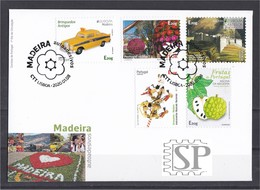 Portugal 2020 FDC Madeira Autoadesivos Festa Da Flor EUROPA Castelos Instrumentos Musicais Frutos Toys Castles Fruit - FDC