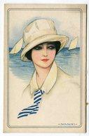 CPA  Illustrateur : NANNI   Femme Avec Foulard Ou Cravate    VOIR DESCRIPTIF  §§§ - Nanni