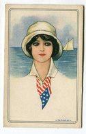 CPA  Illustrateur : NANNI   Femme Avec Foulard Ou Cravate USA   VOIR DESCRIPTIF  §§§ - Nanni