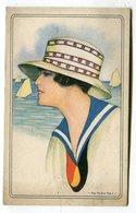 CPA  Illustrateur : NANNI   Femme Avec Foulard Ou Cravate Belgique    VOIR DESCRIPTIF  §§§ - Nanni