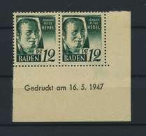 FRZ.ZONE BADEN 1947 Nr 4 Bru Postfrisch (119294) - Französische Zone