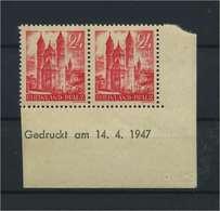 FRZ.ZONE - RH.-PFALZ 1948 Nr 8 Bru Postfrisch (119298) - Französische Zone