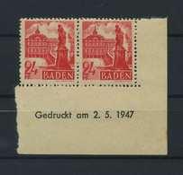 FRZ.ZONE BADEN 1947 Nr 8 Bru Postfrisch (119297) - Französische Zone