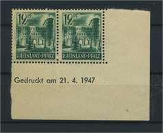 FRZ.ZONE - RH.-PFALZ 1948 Nr 4 Bru Postfrisch (119301) - Französische Zone