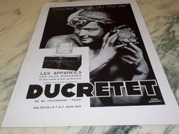 ANCIENNE PUBLICITE  TSF LA VOIX DU MONDE DUCRETET   1930 - Autres