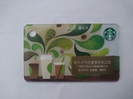China Gift Cards, Starbucks, 50 RMB,  2017,(1pcs) - Gift Cards