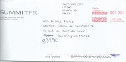 Ema Hasler - Lettre Salt Lake City Pour La France - Enveloppe Entière - Stati Uniti