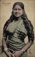 Cp Ceylon Sri Lanka, Tamil Woman, Portrait Einer Frau - Sri Lanka (Ceylon)
