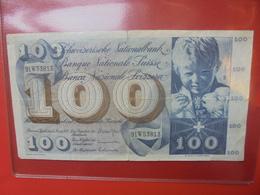 SUISSE 100 FRANCS 1973 CIRCULER - Suiza