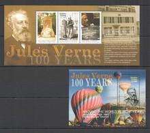 A705 2005 SIERRA LEONE JULES VERNE 100 YEARS #4848-51 MICHEL 14 EURO KB+BL MNH - Ecrivains