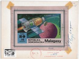 1989 Madagascar Mars Exploration Zond-2 Space Artwork - Madagascar (1960-...)
