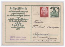 DT- Reich (001532) Ganzsache Mit Zusatzfrank Zur Kundgebung Auf Dem Brückeberg Mit TST Magdebureg Vom 31.7.1935 Gelaufen - Deutschland