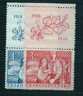 1948 Czechoslovakia MNH - Mi 550-551 Zf. Yv 482-483 ** MNH - Tschechoslowakei/CSSR