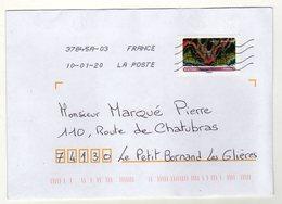 Enveloppe FRANCE Oblitération LA POSTE 37845A-03 10/01/2020 - Storia Postale