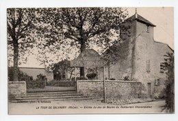 - CPA LA TOUR DE SALVAGNY (69) - Entrée Du Jeu De Boules Du Restaurant Chaverondier 1907 - Photo Delorme - - Frankrijk