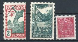 GUAYANA (COLONIA FRANCESA) 1929+1947 (O) USADOS MI-110+233+P22 YT-110+201+T22 VARIOS - Französisch-Guayana (1886-1949)