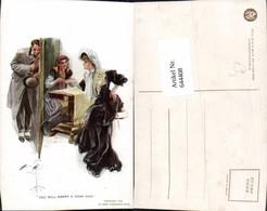 644408,Künstler AK Harrison Fisher Wahrsagerei Wahrsager Handlesen Pub Reinthal & New - Ansichtskarten