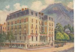 CPA Carte Publicitaire Aix Les Bains International Palace Hotel - Aix Les Bains