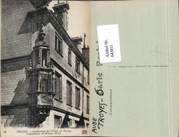 643911,Troyes Aube Erker Hotel De Marizy - Ohne Zuordnung