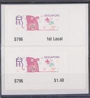 Singapore 2020 Rat Year Zodiac ATM Frama Machine Labels Mint - 2 Values - Vignettes ATM - Frama