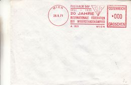 Autriche - Lettre De 1948 - Oblit Wien - EMA - Empreintes Machines - Widerstandskämpfer - Essai Machine 000 - Marcofilia - EMA ( Maquina De Huellas A Franquear)