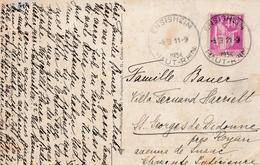 CP Affr Y&T 281 Obl ENSISHEIM Du 11.9.1937 Adressée à St Georges De Didonne - Marcophilie (Lettres)