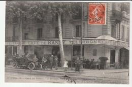 Bordeaux (Gironde) Devanture Du Café De Nancy  Avec Clients,  Automobile - Bordeaux
