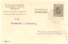 JUDAICA S H GUTMAN BELISCE YEAR 1927 - Serbien