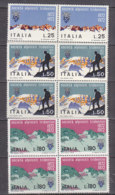 PGL DF145 - ITALIA REPUBBLICA 1972 SASSONE N°1179/81 ** QUARTINA - 6. 1946-.. Repubblica