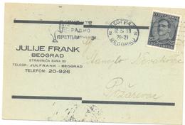 JUDAICA JULIJE FRANK BELGRADE YEAR 1933 - Serbie