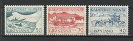 GROENLAND 1971  N° 66/68 **  Neufs MNH Superbes C 1.20 € Faune Fauna Transports Poste Chiens Dog Bateaux - Groenland