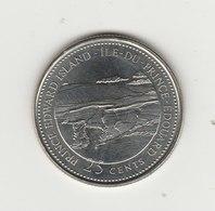 25 CENTS 1992 PROVINCE DE L'ILE DU PRINCE EDOUARD - Canada