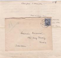 CHINE Lot De 2 Lettres De Shanghai 1937/38 Pour L'Indochine Avec Correspondances + 1 Lettre De Harbin Pour La France - 1912-1949 Republiek