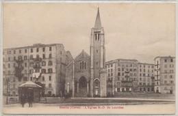 Cpa Corse Bastia L'Eglise N-D De Lourdes - Bastia