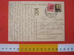 PC.3 ITALIA RSI CARTOLINA POSTALE - 1944 MAZZINI 30 CENT BRUNO FRANCOBOLLO AGGIUNTO DA VARAZZE SAVONA 12/1 1945 X VC - 4. 1944-45 Repubblica Sociale