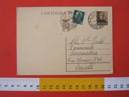 PC.3 ITALIA RSI CARTOLINA POSTALE - 1944 MAZZINI 30 CENT BRUNO FRANCOBOLLO AGGIUNTO DA ESINE BRESCIA 19/10 1944 X VC - 4. 1944-45 Repubblica Sociale