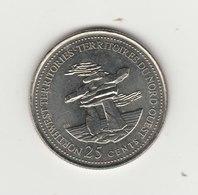 25 CENTS 1992 TERRITOIRES DU NORD OUEST - Canada
