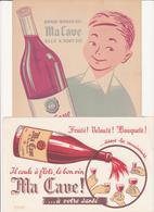 """Buvard Et Protège Cahier Pour Le Vin """"Ma Cave"""" - Buvards, Protège-cahiers Illustrés"""