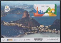Brazil 2016 Rio De Janeiro Handing Over Olympic Flags Souvenir Sheet MNH/** (H59A-LARGE) - Sommer 2016: Rio De Janeiro