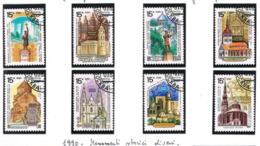 URSS - SG 6165.6172  - 1990 HISTORICAL MONUMENTS  (COMPLET SET OF 8)    - USED - RIF.CP - Usati