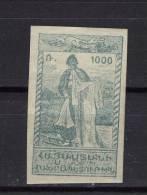 ZARMn111 - ARMENIE - 1921-22 - N°111 (YT) - Neuf** Et Non Dentelé - Pêcheur Du Lac De Van - Arménie