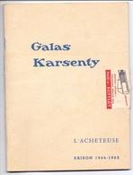 Programma Programme - Galas Karsenty - L'Acheteuse - Suzanne Flon - Saison 1964 - 1965 - Programma's