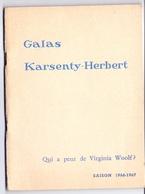 Programma Programme - Galas Karsenty Herbert - Qui A Peur De Virginia Woolf ? - Saison 1966 - 1967 - Programma's