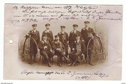 WETZLAR:  RADFAHRER - VEREIN  VON  1887 - MANNSCHAFT  DESR. C. LEIPZIG  1885 - LINKS  PERFORIERT -  KLEINFORMAT -  RRR - Radsport