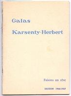 Programma Programme - Galas Karsenty Herbert - Faisons Un Rêve - Robert Lamoureux  Saison 1966 - 1967 - Programma's