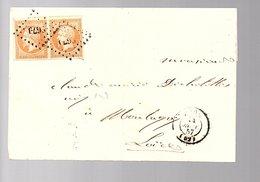 1857 PC 2679 = RIOM > 'Clermont-Paris' > Montagny Claude Dichalotte (12) - 1853-1860 Napoleon III