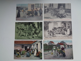 Beau Lot De 10 Cartes Postales De Belgique Laitière Flamande  Attelage De Chien   Mooi Lot 10 Postk. Melkvrouw Span Hond - Cartes Postales