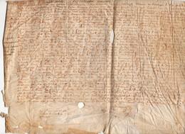 A Déchiffrer Acte Parchemin Manuscrit 1601-17ème Siècle Pasquieu , Cachin ? Dampiere ? Chapellerie De  ..... - Manoscritti