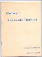 Programma Programme - Galas Karsenty Herbert - Madame Princesse - Marie Bell  Saison 1966 - 1967 - Programma's